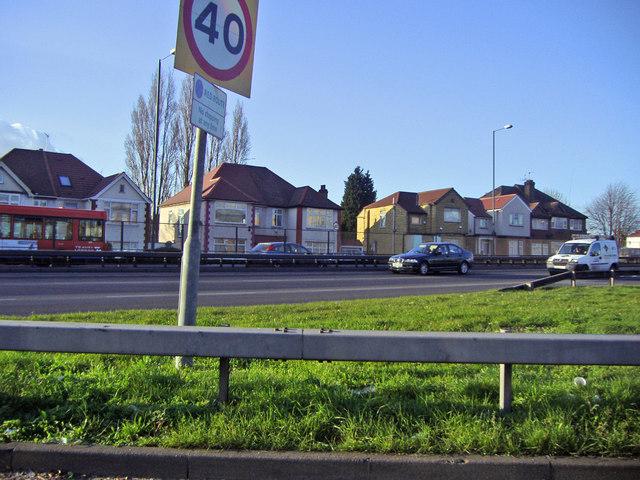 The North Circular Road from Neasden Lane sliproad