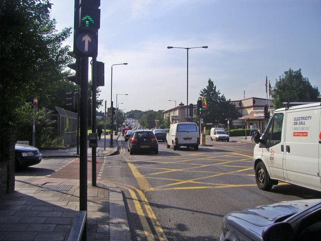Neasden Lane North at junction of Quainton Street