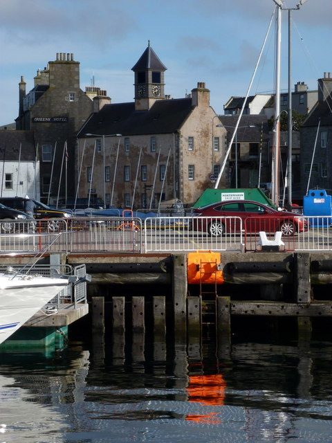 Lerwick: the Old Tolbooth from across the harbour