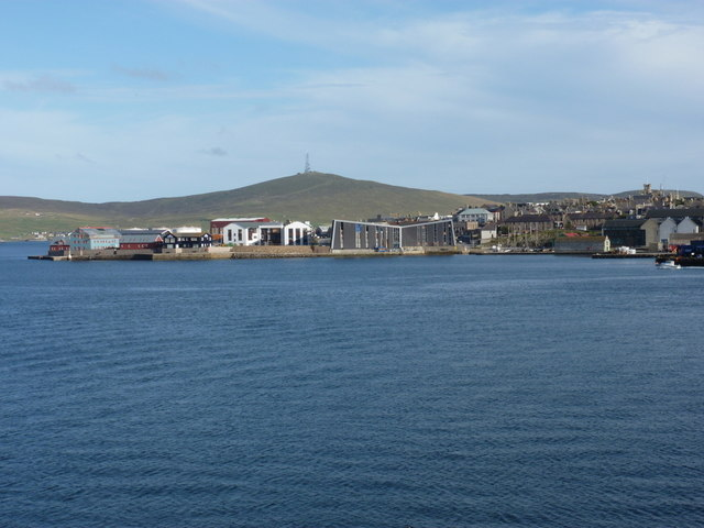 Lerwick: town and harbour from the north