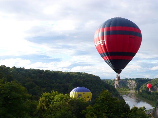 Hotair balloons in the Avon Gorge