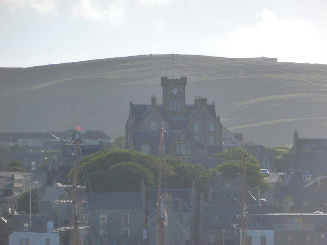 Lerwick: the Town Hall from Bressay Sound