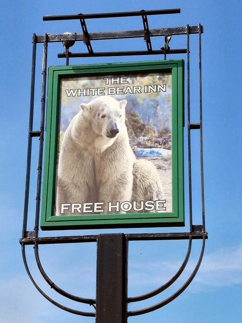 White Bear Inn Sign