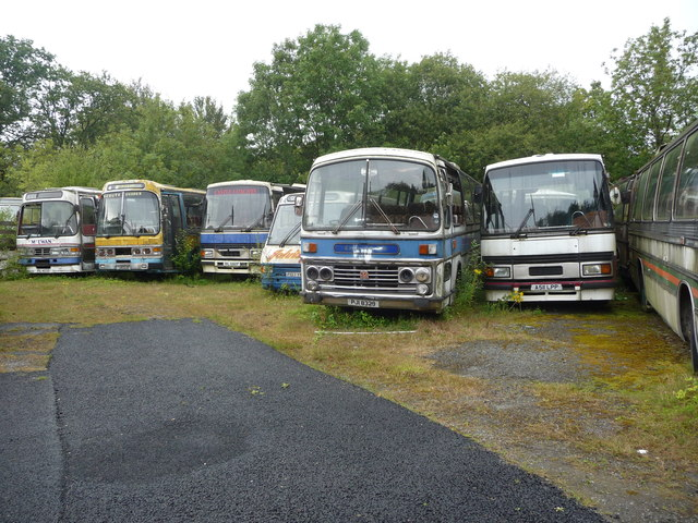 Old coaches near Builth Wells