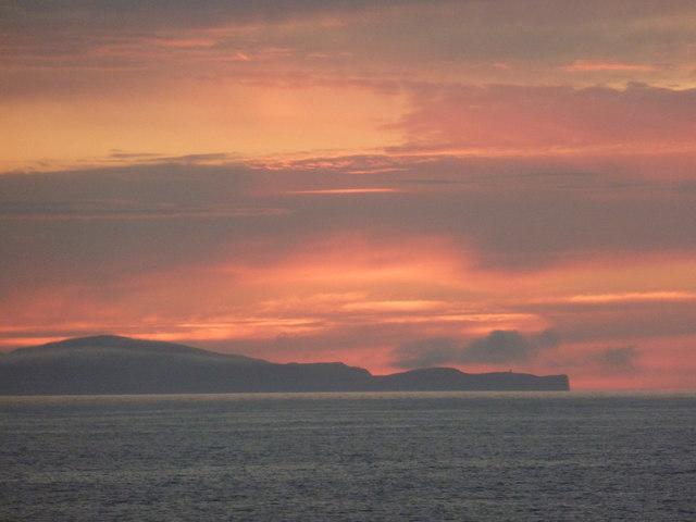 Fair Isle: sunset around Ward Hill