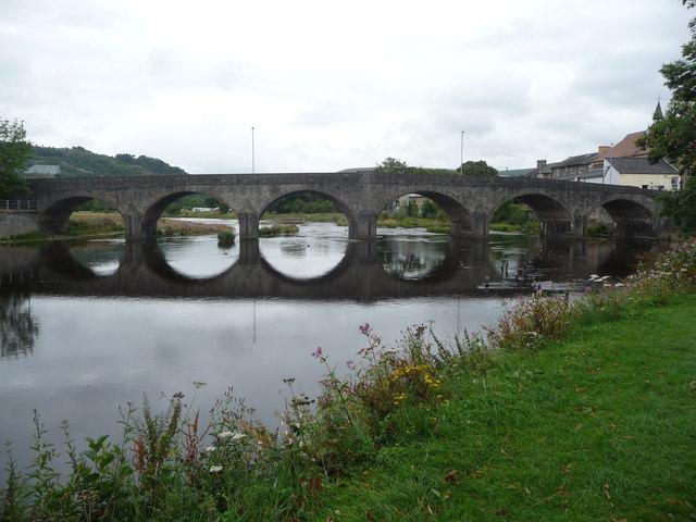 The Wye bridge at Builth Wells