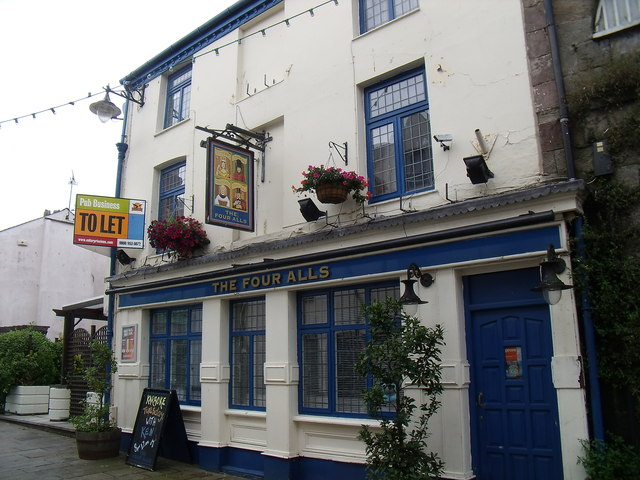 The Four Alls pub on Hole in the Wall Street, Caernarfon
