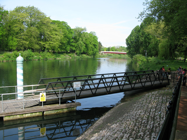 Aqua-bus landing stage on the River Taf