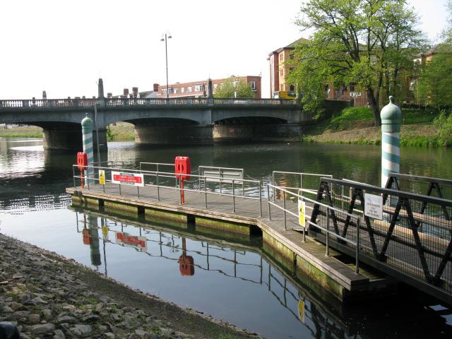 Cardiff Bridge and the Aqua-bus landing stage