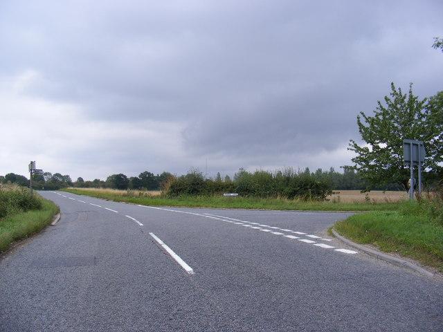 B1078 junction Drabb's Lane