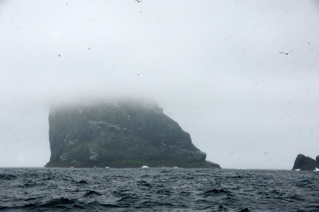 Stac an Armin from beside Stac Lee, Boreray, St Kilda