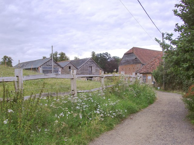 Barn and outbuildings at Pierrepont Farm