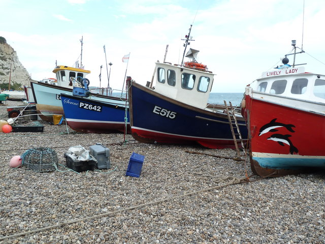 Fishing boats on the beach, Beer
