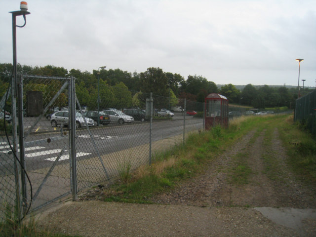 Byway passing Overton Mill car park