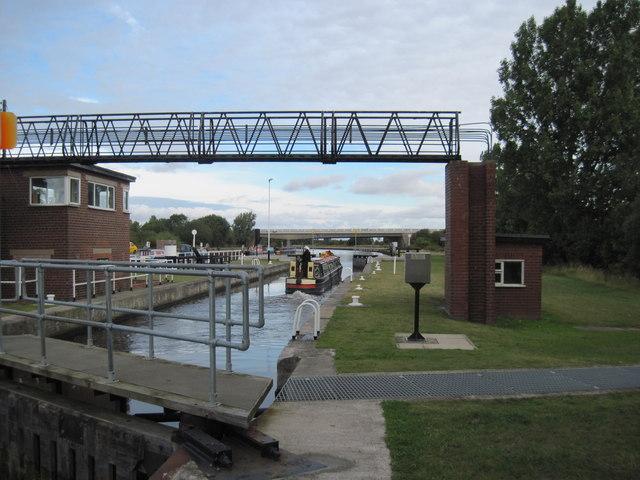 Leaving  Whitley  Lock