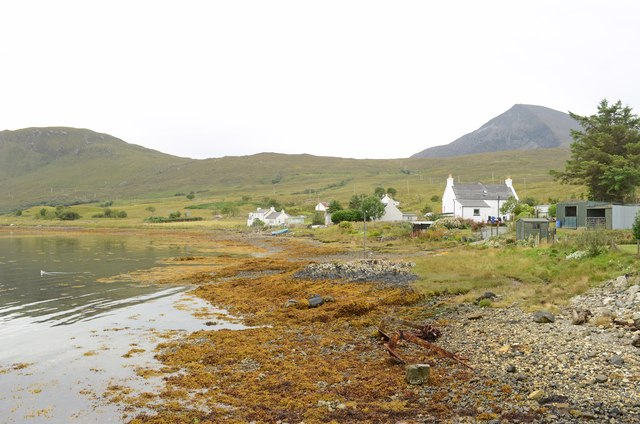 Shore of Loch na Cairidh at Strollamus