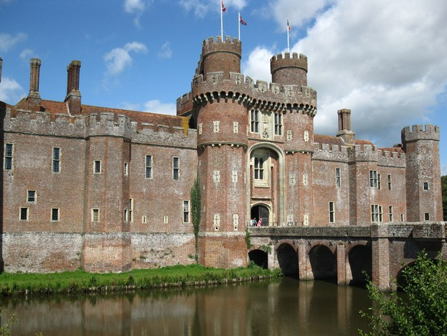 The front of Herstmonceux Castle