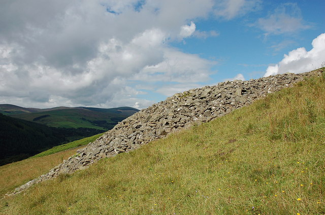 Clearance cairn on Blakehope Hill