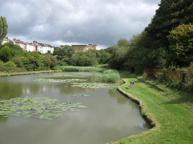 Upper reservoir at Clive Vale