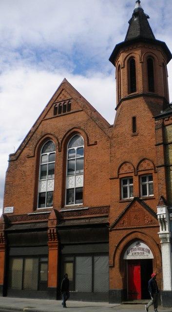 Entrance to All Stars Boxing Club, Harrow Road W10