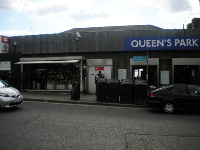 Frontage of Queen's Park Station, Salusbury Road NW6