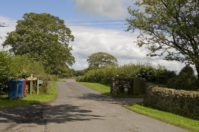 Entrance drive to Wycongill Farm