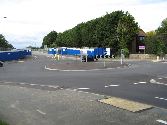 A new road off the East Street Fitzalan Road roundabout