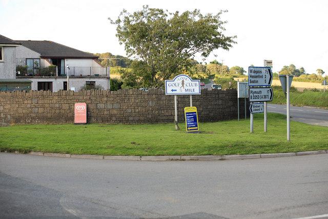 Road junction at Nomans Land