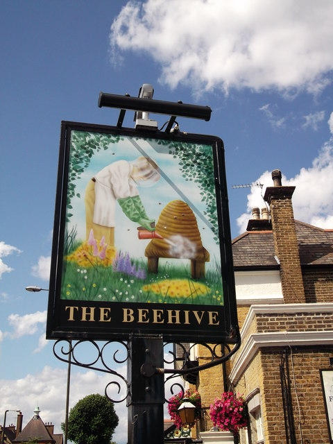 The Beehive Pub Sign, New Eltham