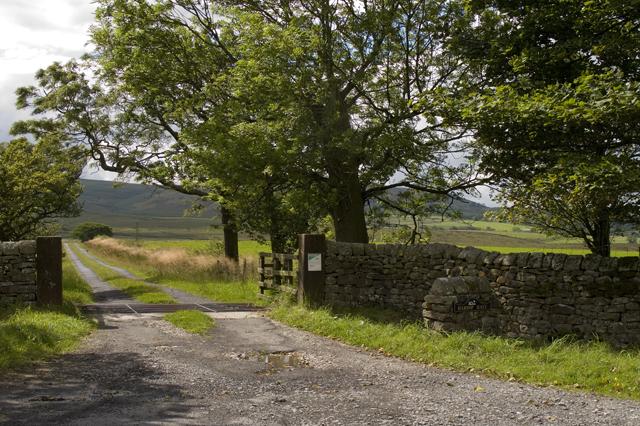 Entrance road to Harrop Hall