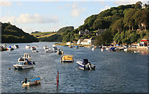SX2553 : High Tide looking up the Looe river by roger geach