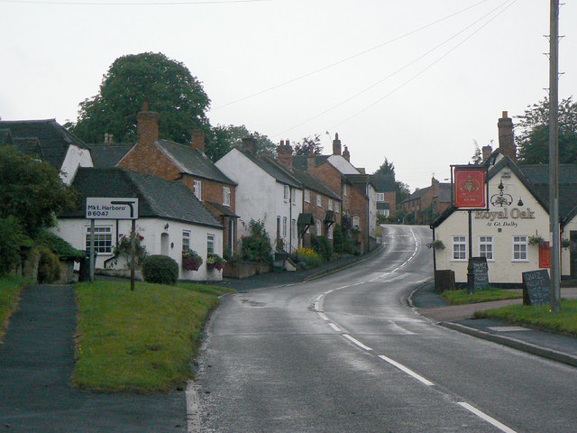 The upper end of Main Street, Great Dalby