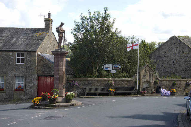 War Memorial and road junction Slaidburn