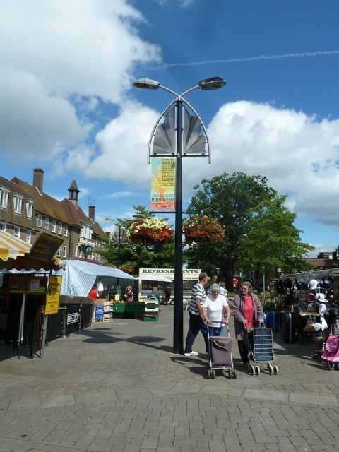 August 2011 in Crawley's historic High Street (l)