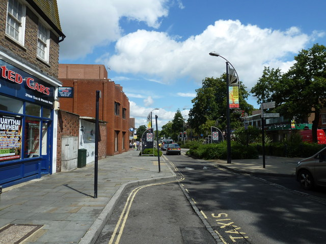 August 2011 in Crawley's historic High Street (p)