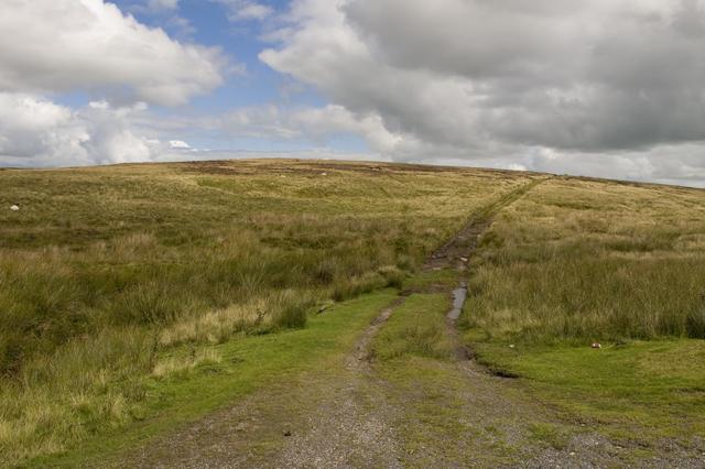 Moorland track to Easington fell