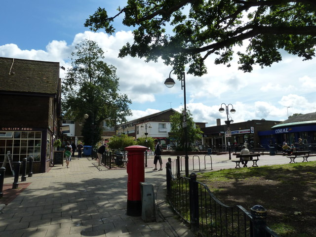 August 2011 in Crawley's historic High Street (r)