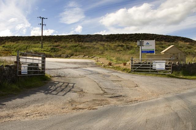 Entrance to Waddington Fell Quarry