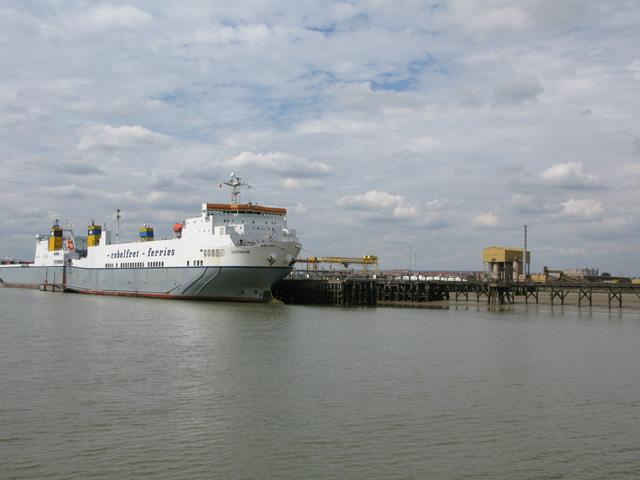 Cobelfret Ferries tied up at Purfleet