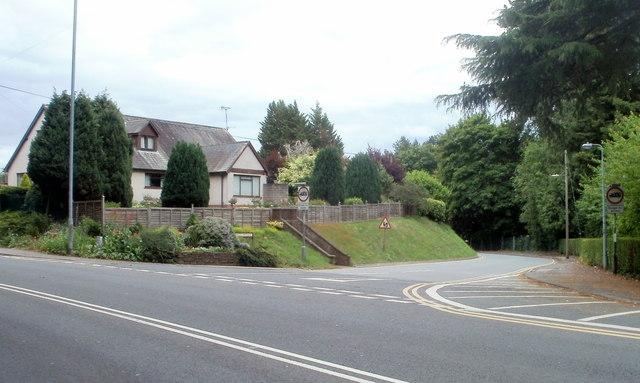 Corner of Brecon Road and Union Road West, Abergavenny