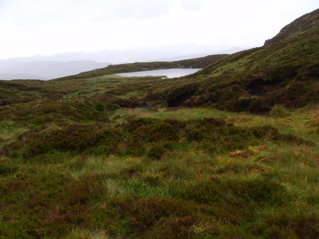 Lochan north of Beinn Bhreac near Aberfoyle