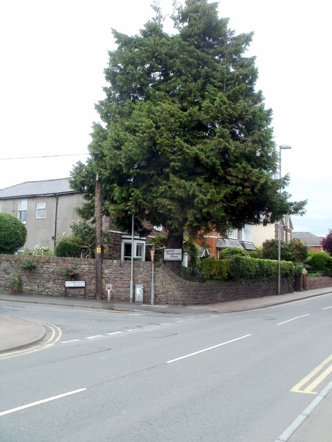 Corner of Belgrave Road and the A40, Abergavenny