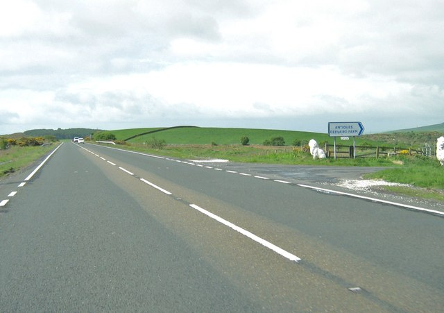 The entrance to Dervaird Farm on the A75