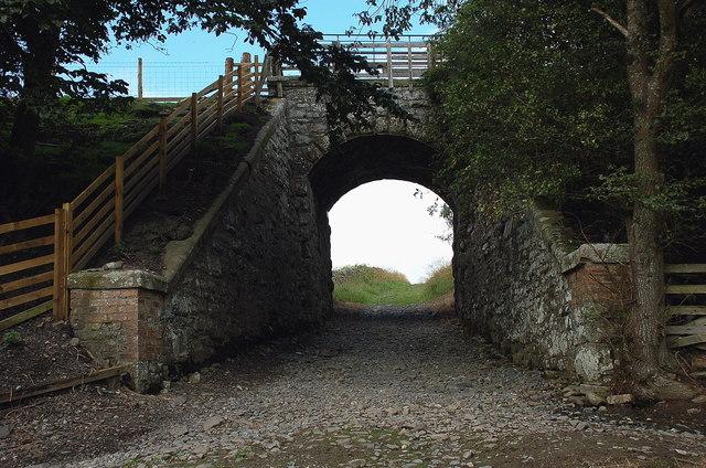 Railway bridge below Caddonlee
