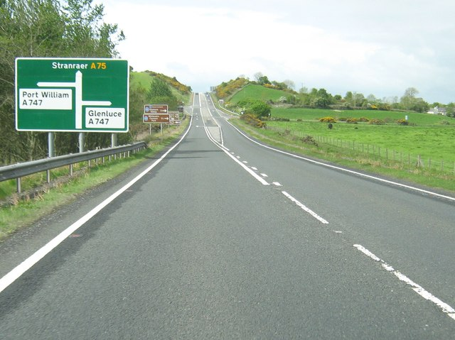 Approaching a staggered crossroads with the A747