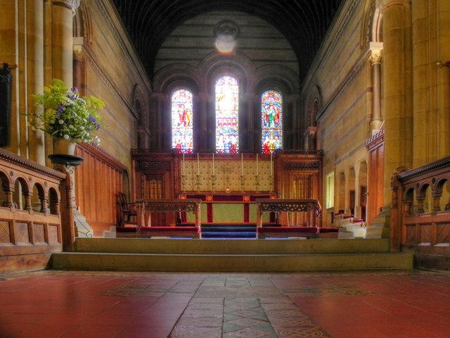All Saints' Church, Altar and East Window