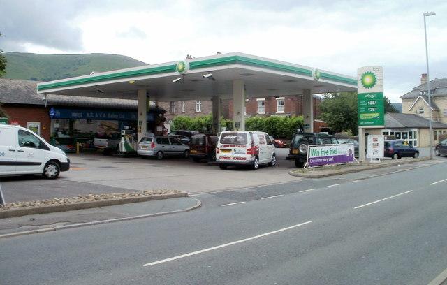 BP filling station and shop, Abergavenny