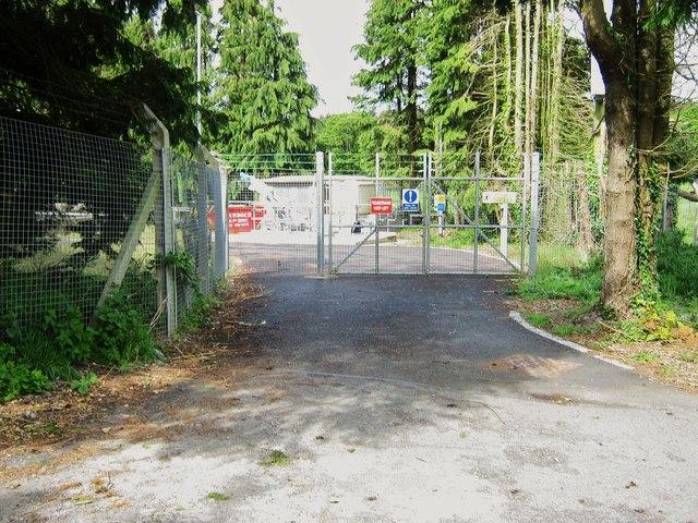 The entrance to Glenluce sewage farm