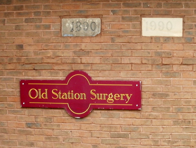 Wall of Old Station Surgery, Abergavenny