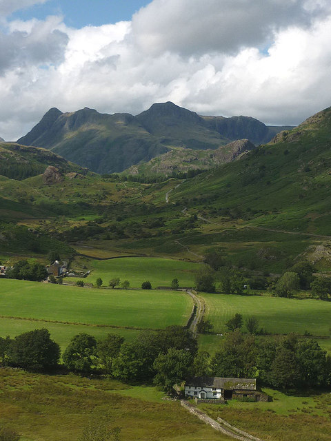 Bridge End and the Langdale Pikes
